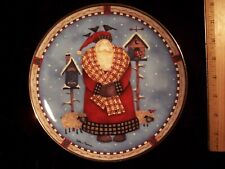 Vintage Christmas Retweet Royal Doulton Collector Plate Santa Birds w/ Box
