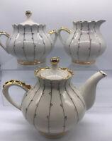 Dovbysh Porcelain Factory Ukraine Vintage Teapot Lidded Sugar Bowl And Creamer