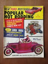 Popular Hot Rodding May 1964 - Ford Mustang - 1915 Model T - Plymouth Barracuda