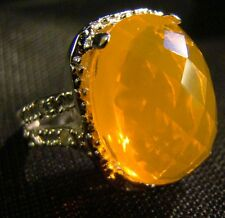 Beautiful 8 ct Orange Sapphire Sterling Silver Ring Size 8