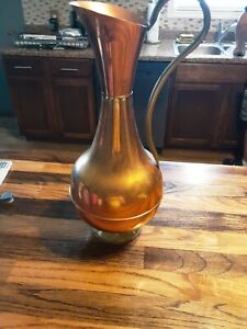 Copper Brass Vase Pitcher LOMBARD Made In England