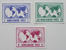 Great Britain Locals?, 3 stamps Worldwide Post 1' - 2'6 - 4'
