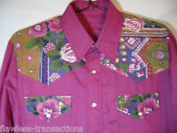 HANDMADE Men's Long Sleeved Western Pearl Snap Square Dancing Shirt Size L NEW