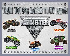 """Monster Jam Monster Truck Matt Vinyl Birthday Party Banner 30"""" x 24"""" [2.5' x 2']"""