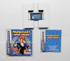 COMPLET jeu MARIO KART SUPER CIRCUIT nintendo game boy advance GBA boite notice
