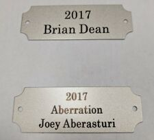 """Fantasy Football Silver Perpetual Trophy Plate 7/8 x 2 1/2"""" - FREE Engraving"""