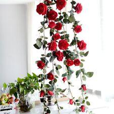 Artificial Rose Vine Hanging Flower Rose Garland Wedding Garden Arch Twine Decor