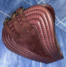 "New Donna Karan New York DKNY Genuine Leather Suede Dark Wine Red Belt XXS 23"""