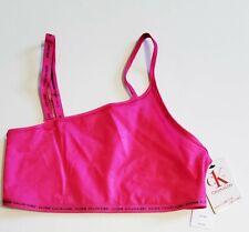 Calvin Klein CK One Glisten Unlined Bralette Party Pink QF6522 Sz L - NWT
