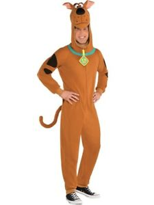 Adults Fleece Scooby Doo Fancy Dress Dog Costume Book Day Week Halloween Mens