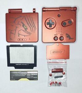 Kit Coque Ecran Nintendo Game Boy Advance SP Pokémon - Groudon - Rouge - GBA SP
