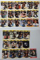 1990-91 Pro Set Vancouver Canucks Team Set of 31 Hockey Cards