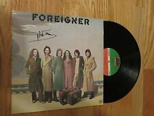 MICK JONES of FOREIGNER signed Debut 1977 Record / Album COA COLD AS ICE