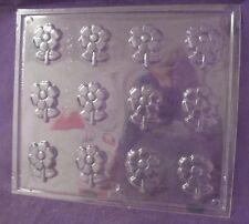 Open Flower bite size chocolate fondant candy molds