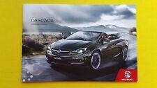 Vauxhall Cascada SE Elite car brochure sales catalogue September 2017 MINT Opel