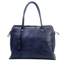 Old Trend Soul Stud Satchel Tote Women's Leather Shoulder Bag Purse Handbag Navy