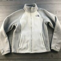 The North Face Womens XS Full Zip Fleece Jacket White Gray