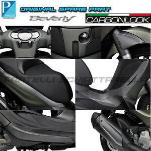 Kit Carene Plastiche Effetto Carbonio Carbon Look Originale Piaggio Beverly 350