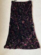 LAURA ASHLEY VELVETY LOOK LINED SKIRT SIZE UK 12 IN GREAT CONDITION
