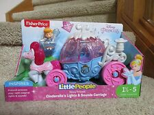 Fisher Price Little People Disney Princess Cinderella's Lights & Sounds Carriage