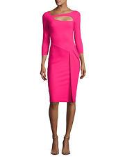 $795 LA PETITE ROBE di CHIARA BONI SUNNY DRESS IN  BRIGHT FUSCHIA SZ 44/8 NWT