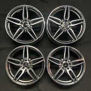 "Genuine Mercedes 19"" AMG Black Diamond Cut Alloy Wheels for W213 E Class Models"