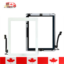 iPad 4 White Touch Screen Digitizer Home Button Adhesive & Tempered Glass