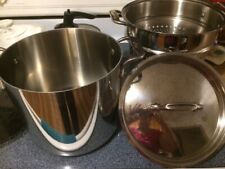 ALL CLAD3 piece Stainless Steel 8 Quart Pasta Steamer Stock Pot Basket and Lid