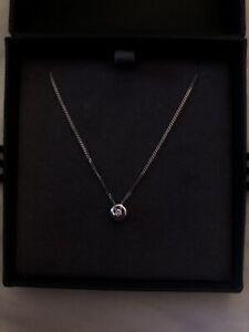 Beaverbrooks 9ct White Gold Diamond Necklace, RRP - £149