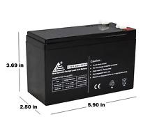 12V 9AH SLA AGM Battery Replaces RBC17, CP1290, HR9-12, BP8-12, UB1290, PS-1290