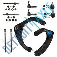 Dodge Ram 1500 2WD 5-Lug 10pc Upper Control Arm Ball Joint Tie Rod Sway Bar Kit