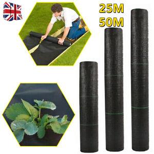 Weed Control Fabric Membrane Garden Ground Cover Landscape 100gsm Mulch Underlay