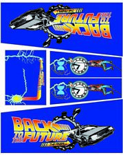 KIT COMPLETO DECALS CABINET FLIPPER PINBALL Back to the future DATA EAST