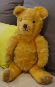 Joy Toys Teddy Australia . 1950's . Gold Plush . 52cm tall . Glass Eyes .