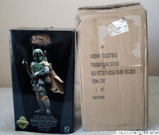 EMPTY BOX ! 1/6 Boba Fett figure Star Wars by Sideshow for display storage 12""