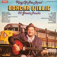 "BOXCAR WILLIE - King Of The Road 12"" LP Album Vinyl Record 1980 Vinyl- Vgc"