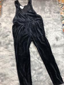 Tea Collection Girls Size 16 Black Velour Velvet Jumpsuit