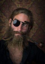Retro Steampunk Circle Flip Up Glasses Sunglasses Costume Renaissance Fair Black