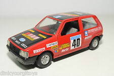 BBURAGO BURAGO 9104 FIAT UNO ROMBI CORSE RALLY RED EXCELLENT CONDITION