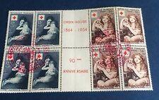 France Intérieur De Carnet 1954 N°1006/7. Obli Croix Rouge TTB Cote 106€
