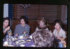 1960s  Kodachrome photo slide Ladies at party eating desserts Beverly Hills CA