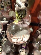 Didney Parks Minnie Mouse Baby's 1st Christmas Ornament Pink New With Tag