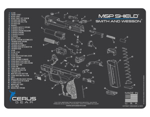 Cerus Gear For Smith & Wesson S&W M&P Shield Armorers Cleaning Mat PREMIUM USA