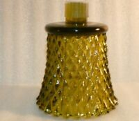 """Green diamond point glass peg votive sconce candle Replacement holder 3.75"""""""