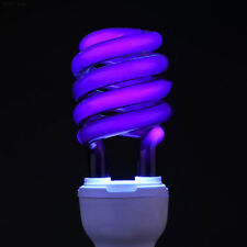 6DE4 E27 40W UV Ultraviolet Fluorescent Blacklight Light Bulb Lamp CFL Bright^