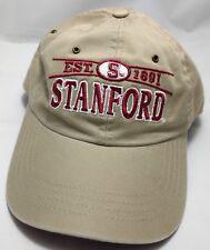 STANFORD UNIVERSITY hat cap adjustable est. 1861 tan/brown