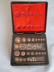 Ohaus Corp Medicine / Science Apothecary Brass Weights Vintage