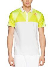 New Men's Adidas Climalite Tennis Polo Shirt T-Shirt Top Jersey - White