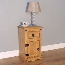 Corona Discount Pot Cupboard Bedside Cabinet Mexican Pine by Mercers Furniture