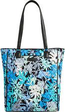 Vera Bradley Camofloral Crosstown Tote Bag Large Blue Floral Handbag Tote NEW